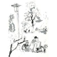 Landschaft | Tuschezeichnung