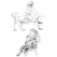 Personenstudien | Tuschezeichnung
