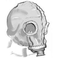 Gasmaske | Tuschezeichnung
