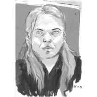 Selbstportrait | Tuschezeichnung