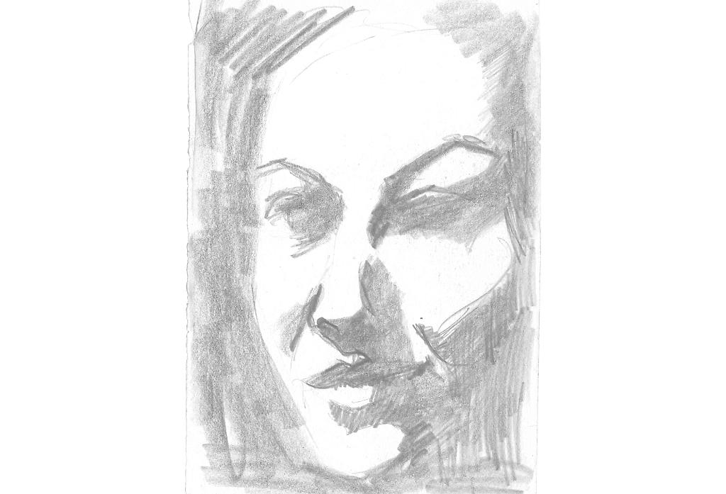 Selbstportrait   Zeichnung
