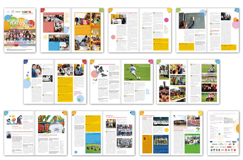 BEAMS | Jugendbroschüre in deutscher und englischer Sprache sowie auf Bosnisch/Kroatisch/Serbisch | Entwurf und Gestaltung | 2014