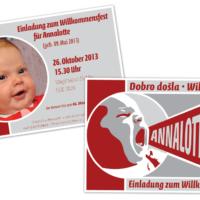 Babykarte | Entwurf und Gestaltung | 2013