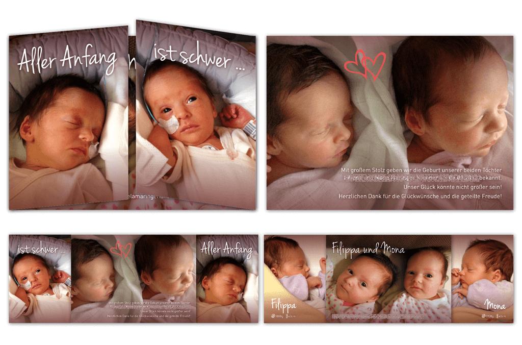 Babykarte | Fensterfalz, Entwurf und Gestaltung | 2013