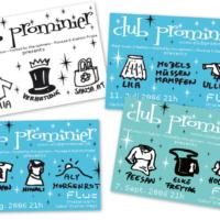 Club Prominier | Veranstaltungsflyer | Entwurf und Gestaltung | 2006