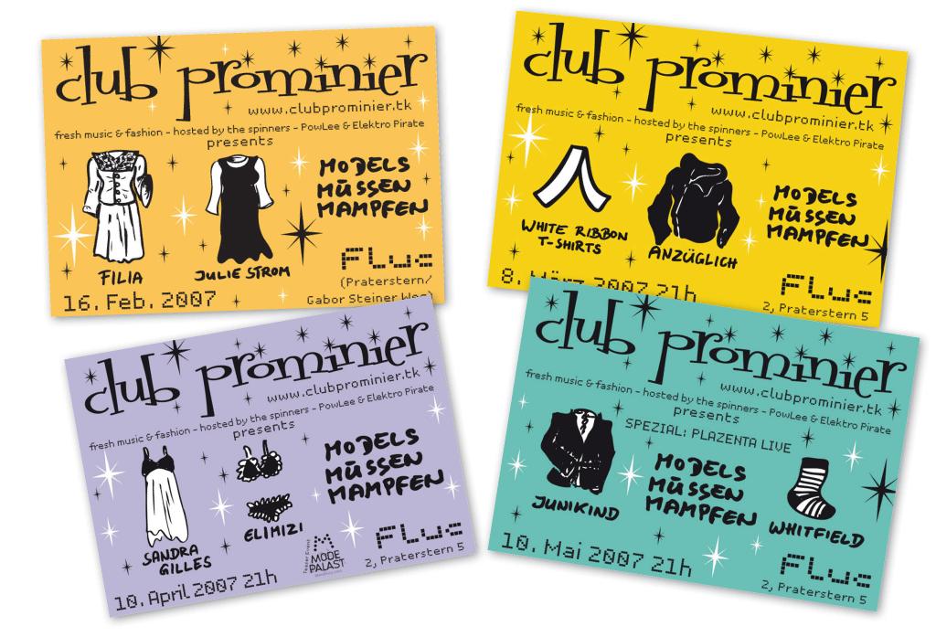 Club Prominier | Veranstaltungsflyer | Entwurf und Gestaltung | 2007