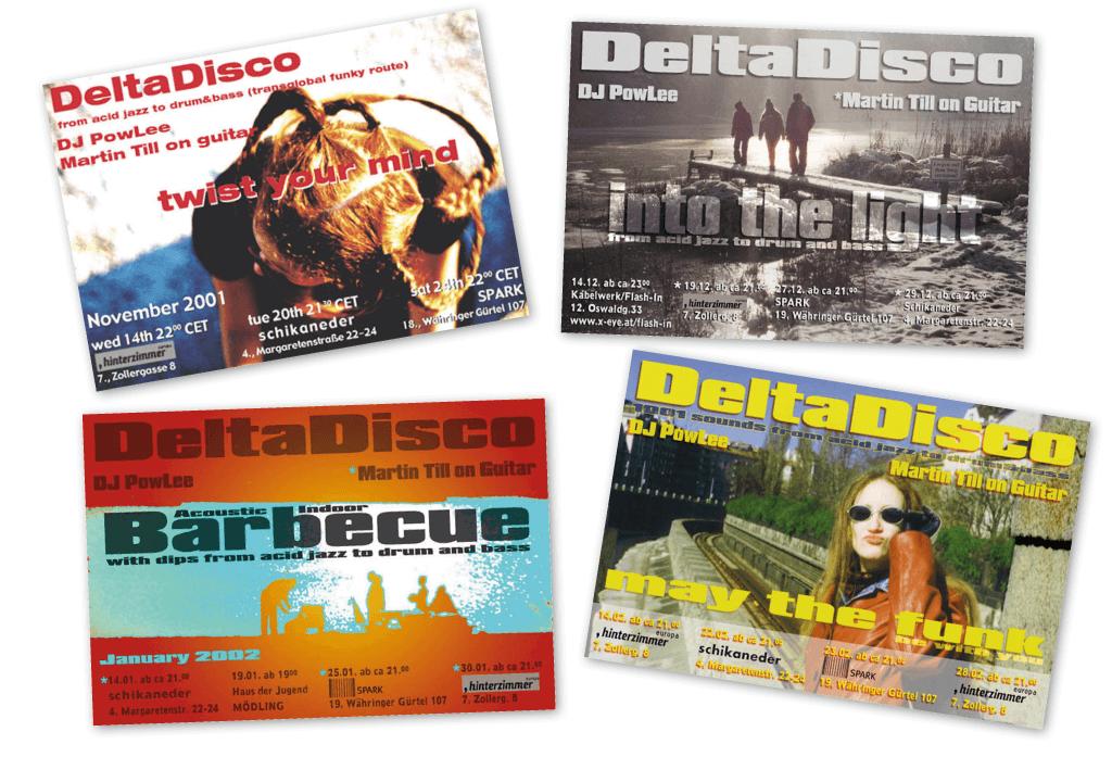 DeltaDisco | Veranstaltungsflyer | Entwurf und Gestaltung | 2001–2002