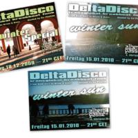 DeltaDisco | Veranstaltungsflyer | Entwurf und Gestaltung | 2009-2010