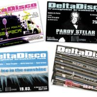 DeltaDisco | Veranstaltungsflyer | Entwurf und Gestaltung | 2004–2005