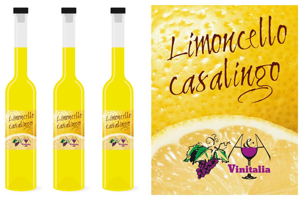 Weinhandel A&A Vinitalia | Limoncello Etikette | Entwurf und Gestaltung | 2014