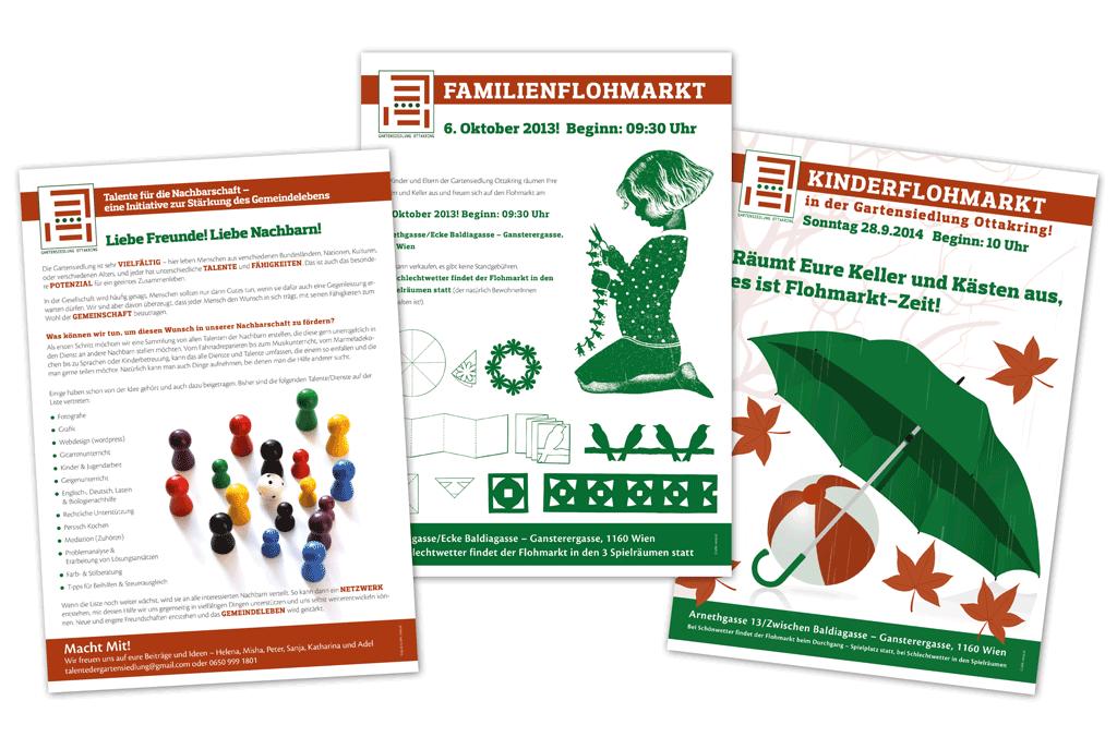 Gartensiedlung Ottakring | Nachbarschaftshilfe, Poster | Entwurf und Gestaltung | 2012-2014
