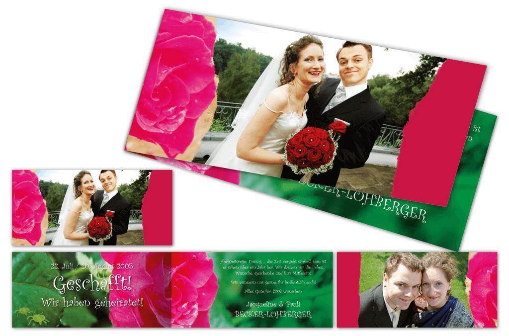 Hochzeitsbillet | Entwurf und Gestaltung, Fotografie | 2005