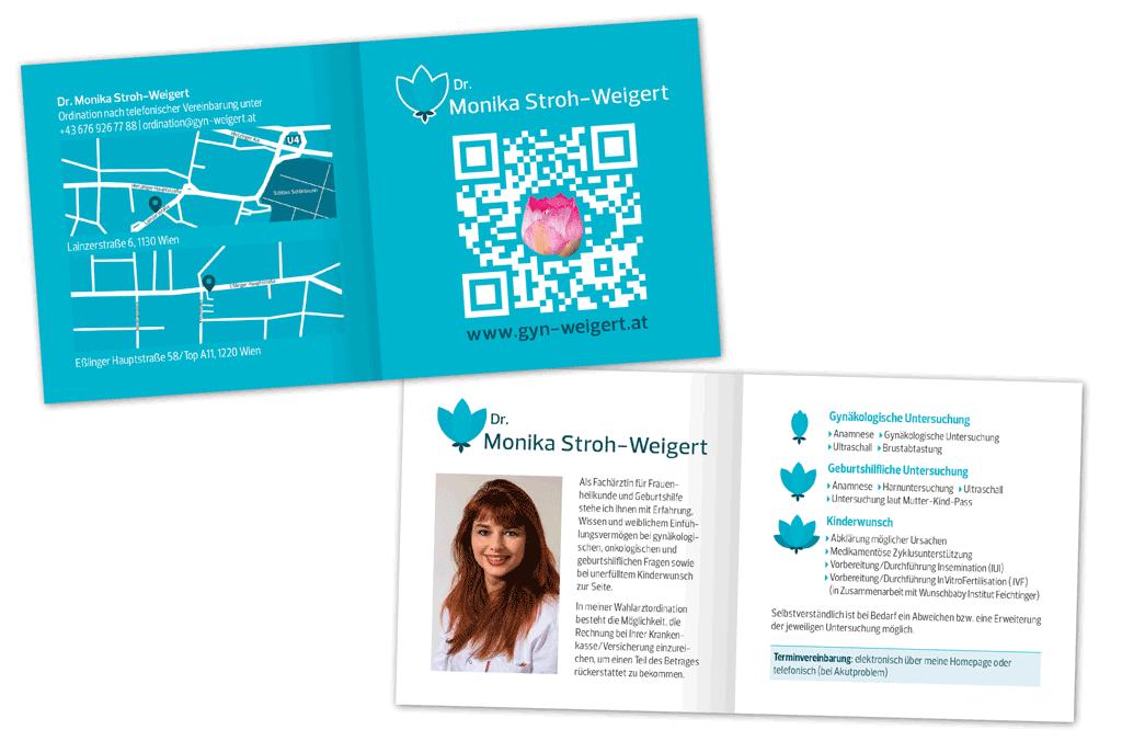 Dr. Monika Stroh-Weigert | Folder | Entwurf und Gestaltung | 2014