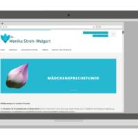 Dr. Monika Stroh-Weigert | Webseitenentwurf, Wordpress Theme Anpassung | Entwurf und Gestaltung, Fotografie | 2014