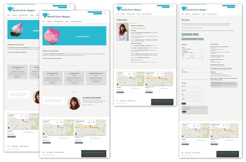 Dr. Monika Stroh-Weigert   Webseitenentwurf, Wordpress Theme Anpassung   Entwurf und Gestaltung, Fotografie   2014