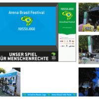 Nosso Jogo – Initiative für globales Fair Play, Brasilien 2014 | Bühne, Info-Point | Entwurf und Gestaltung | 2014