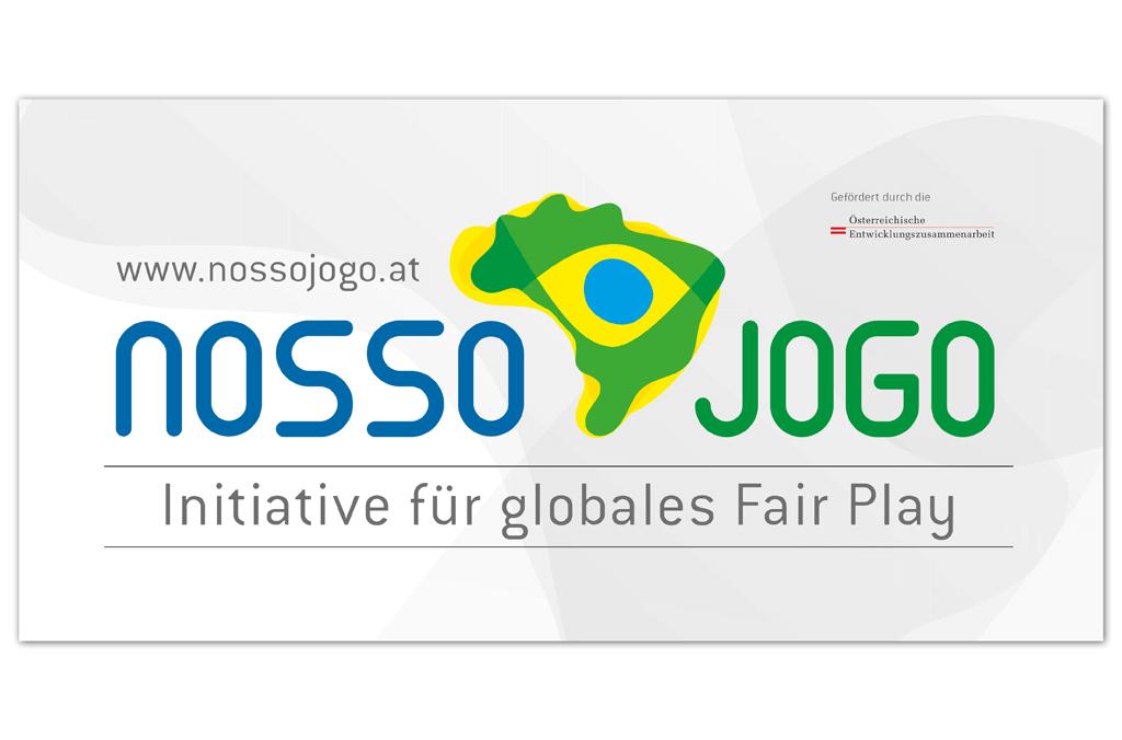 Nosso Jogo – Initiative für globales Fair Play, Brasilien 2014 | Banner | Entwurf und Gestaltung | 2013