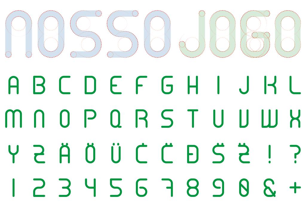 Nosso Jogo – Initiative für globales Fair Play, Brasilien 2014 | Schrift | Entwurf und Gestaltung | 2013