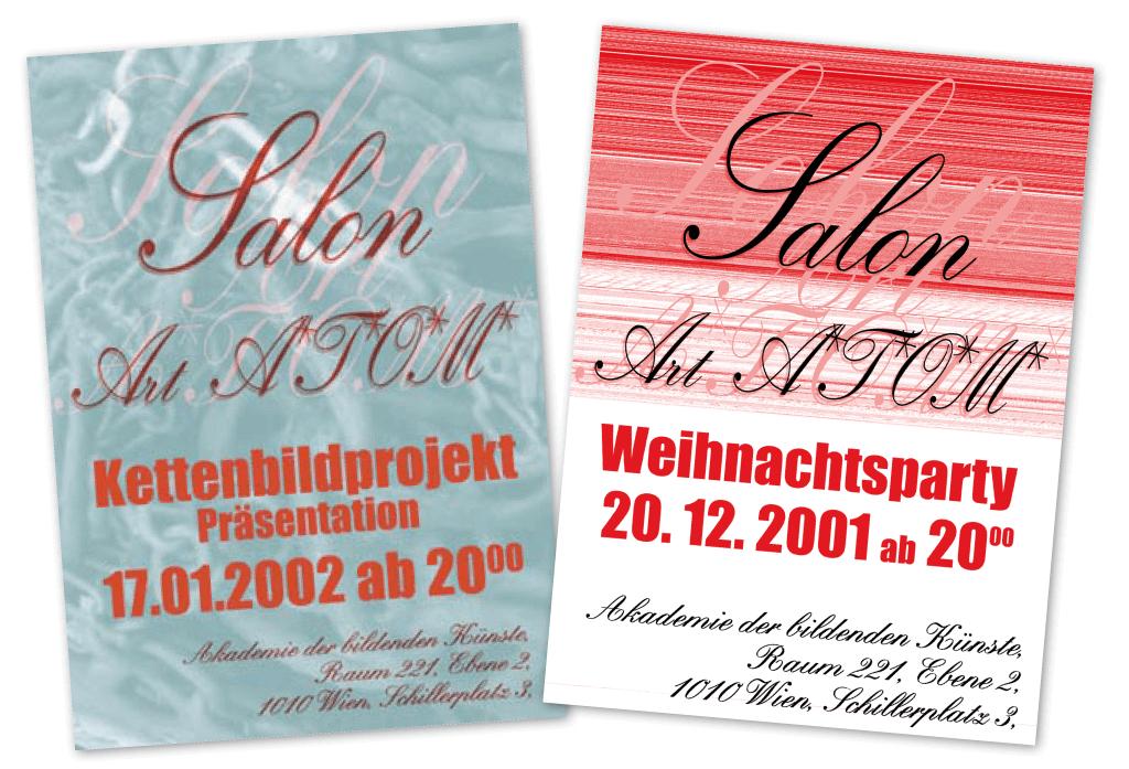 Salon Art A.T.O.M. | Poster | Entwurf und Gestaltung | 2001–2002