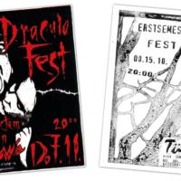 TÜWI | Plakate, Flyer | Linolschnitt, Entwurf und Gestaltung | 1995-1998