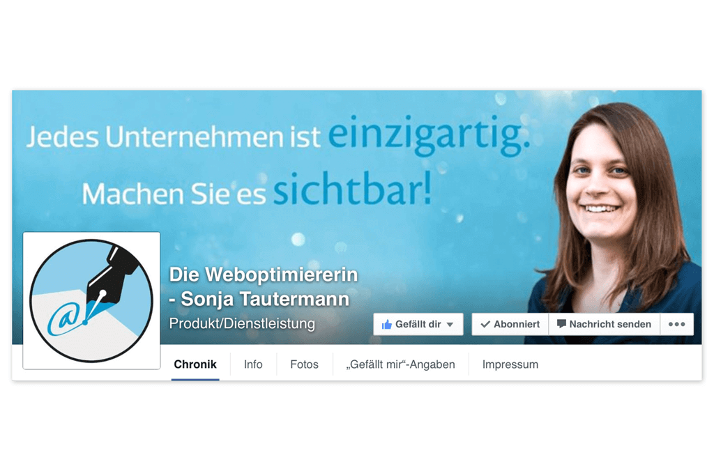 Mag. Sonja Tautermann – Weboptimiererin | Facebook Seitenheader | Entwurf und Gestaltung | 2014