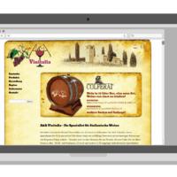 Weinhandel A&A Vinitalia | Logo, Visitenkarten, Webdesign, Fotografie, Illustrationen, Wordpress Theme | Entwurf und Gestaltung | 2006–2013