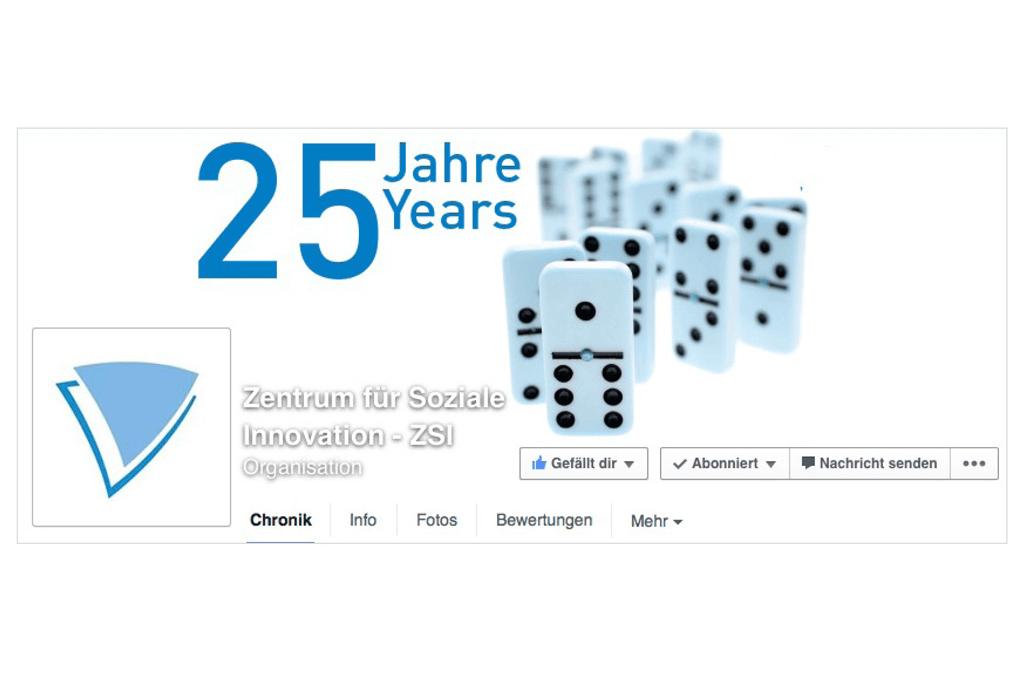 Zentrum für Soziale Innovation - ZSI | Facebook Seitenheader | Entwurf und Gestaltung | 2015