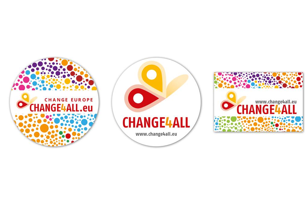 Change4All | Sticker | Entwurf und Gestaltung | 2015