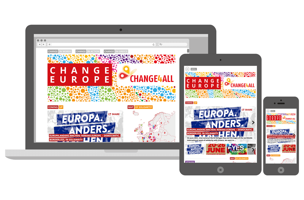 Change4All   Webseite   Entwurf und Gestaltung   2015