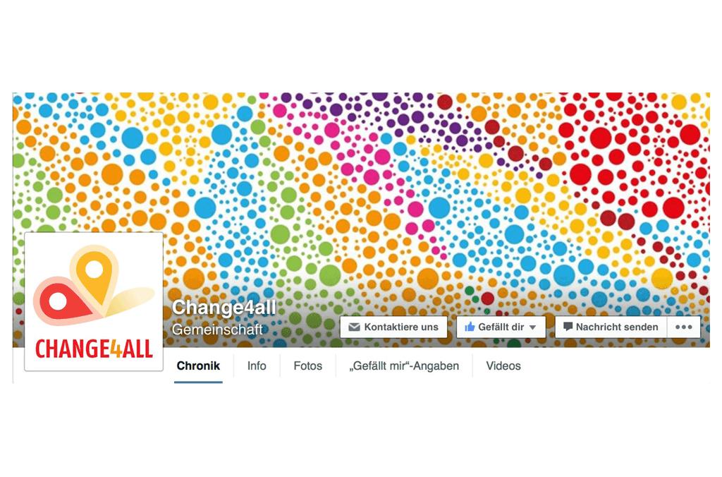 Change4All | Facebook Seitenheader und Profilbild | Entwurf und Gestaltung | 2015