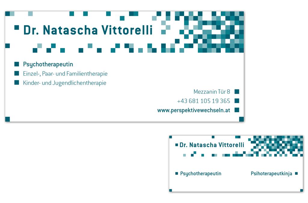Psychotherapeutin Dr. Natascha Vittorelli | Praxis- und Türschild | Entwurf und Gestaltung | 2015