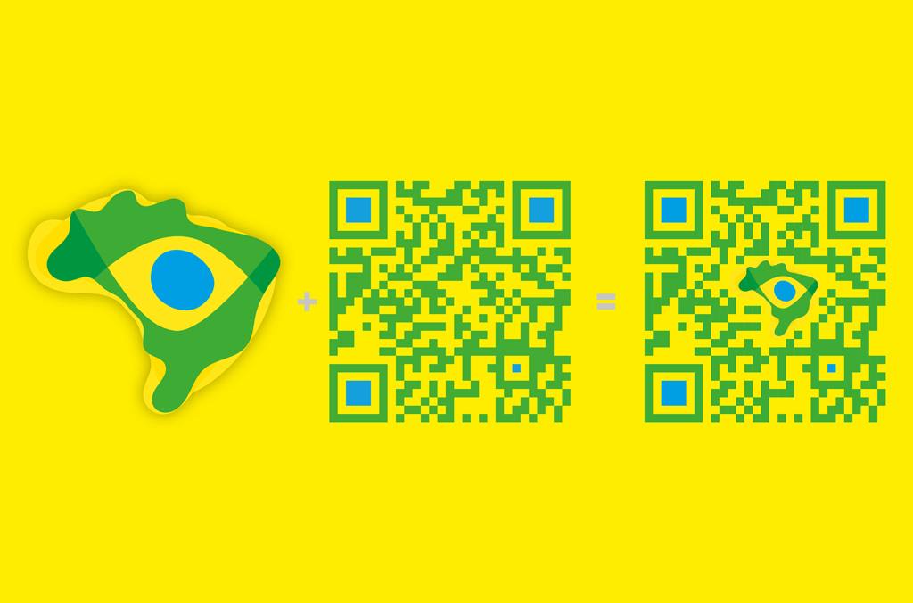 Nosso Jogo – Initiative für globales Fair Play, Brasilien 2014 | QR Code | Entwurf und Gestaltung | 2014