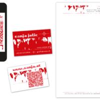 sanja.at e.U. | Visitenkarte, Briefpapier, vCard | Entwurf und Gestaltung | 2013