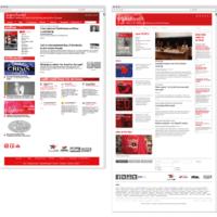 transform! europe | Startseite www.transform-network.net vor und nach Redesign | Entwurf und Gestaltung | 2014