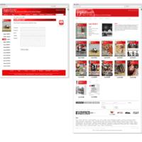 transform! europe | Zeitschriften-Übersicht www.transform-network.net vor und nach Redesign | Entwurf und Gestaltung | 2014