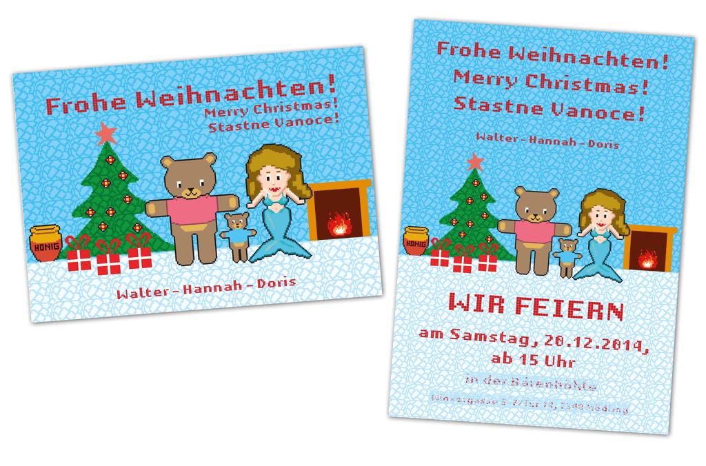 Weihnachtskarte | Entwurf und Gestaltung, Illustration | 2013-2014