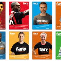 FARE network Football People Action Week   Poster   Entwurf und Gestaltung   2015
