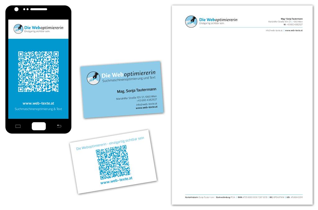Mag. Sonja Tautermann – Weboptimiererin | Visitenkarte, Briefpapier | Entwurf und Gestaltung | 2014