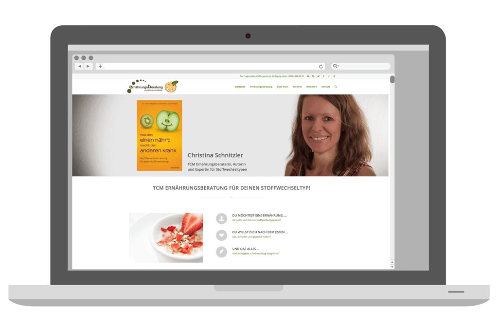 Christina Schnitzler – TCM Ernährungsberaterin   Webdesign   Entwurf und Gestaltung   2015