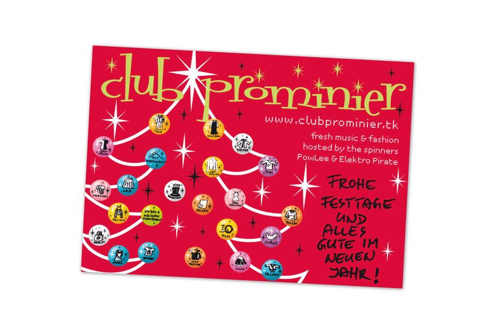 Club Prominier | Weihnachtskarte | Entwurf und Gestaltung | 2007