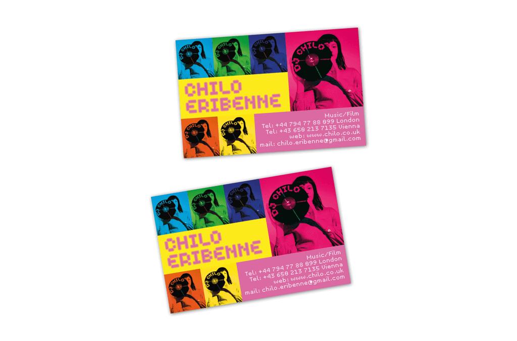 DJ Chilo | Visitkarte | Entwurf und Gestaltung | 2005