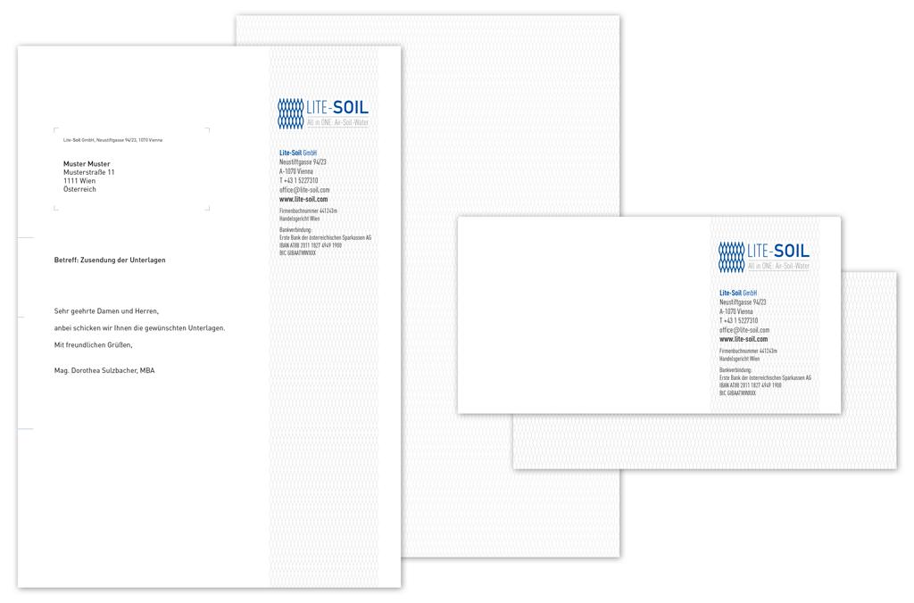 Lite-Soil GmbH | Briefpapier, Complement Cards | Entwurf und Gestaltung | 2015