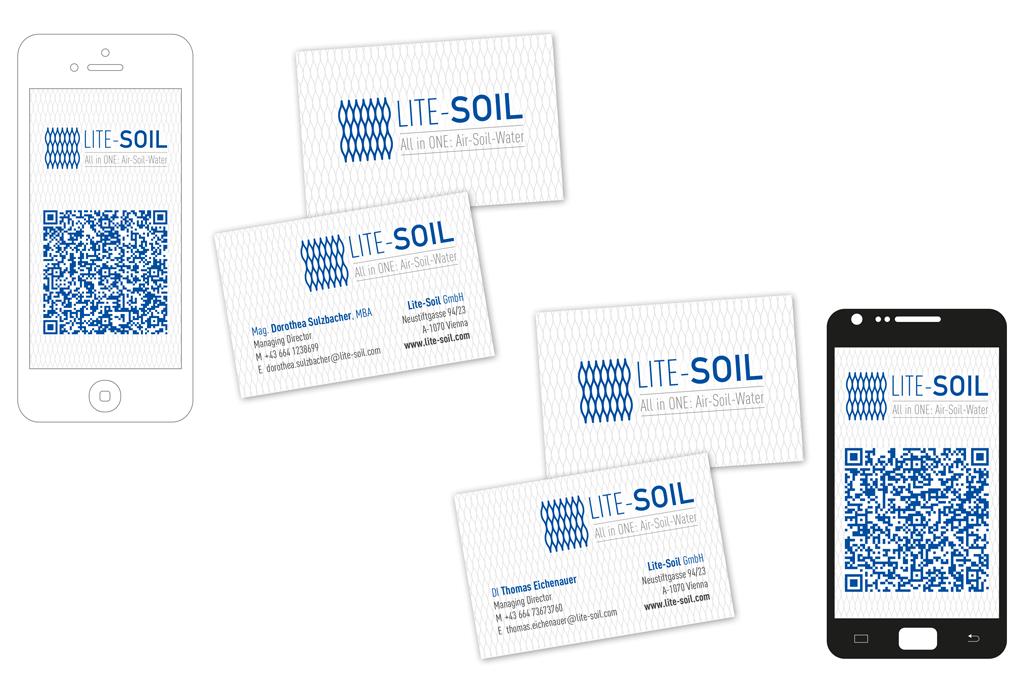 Lite-Soil GmbH | Visitenkarte, vCards | Entwurf und Gestaltung | 2015