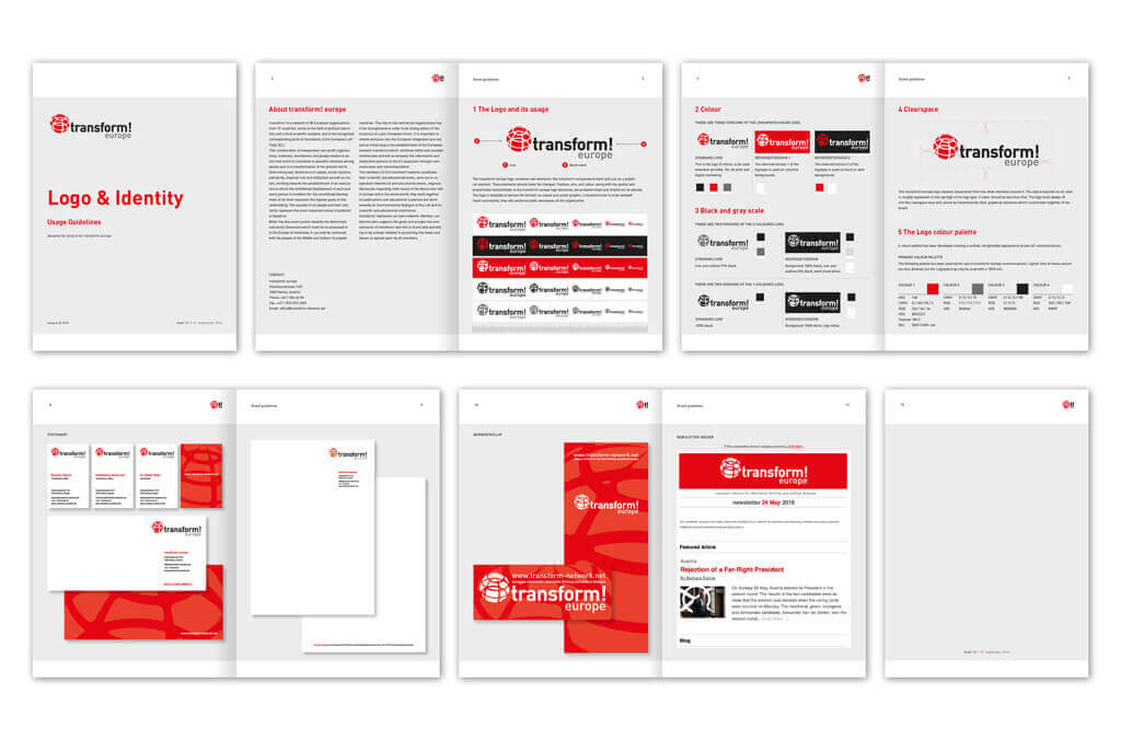 transform! europe | Corporate Design Manual | Entwurf und Gestaltung | 2016