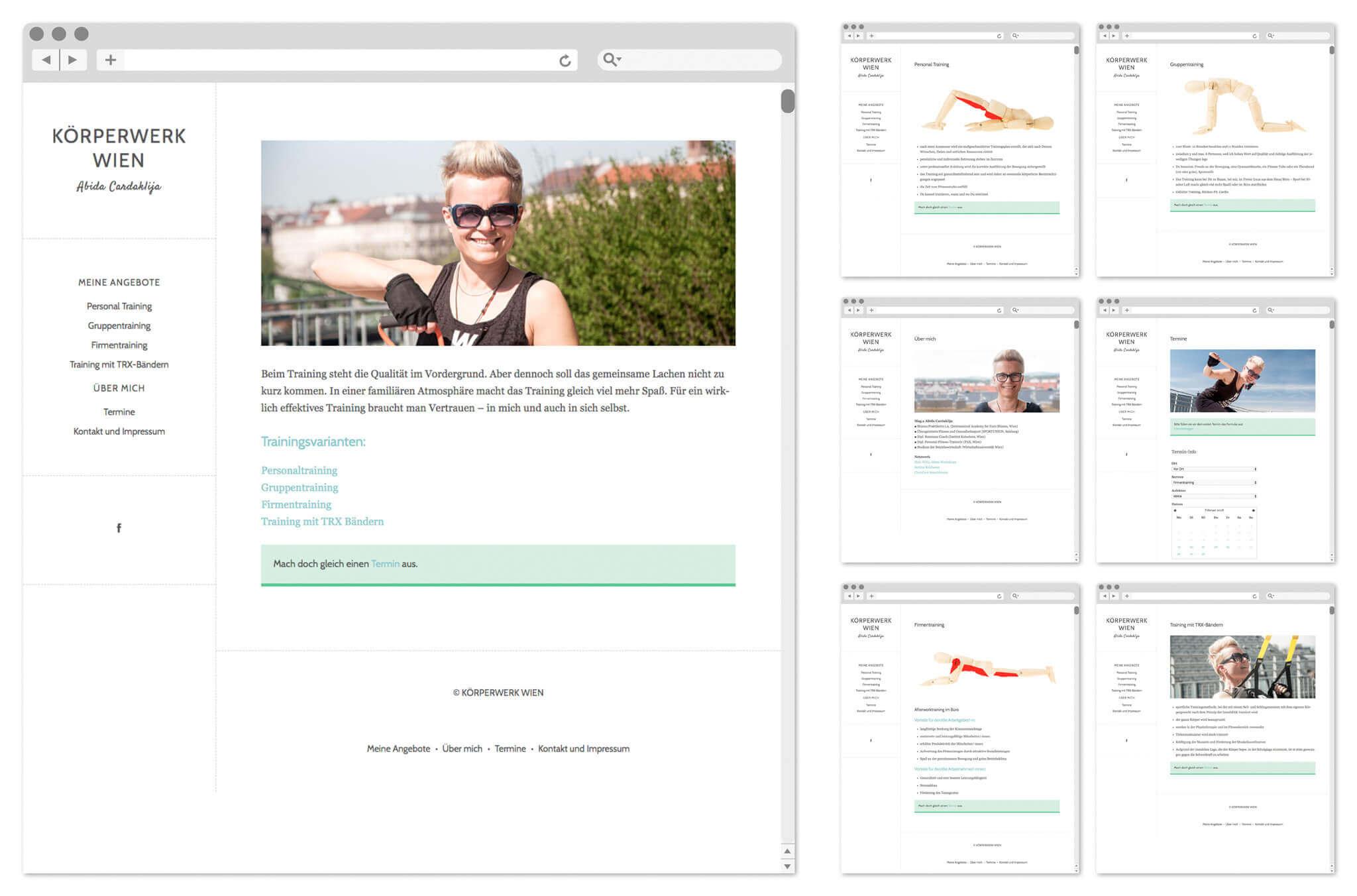 Körperwerk Wien   Webseitenentwurf   Entwurf und Gestaltung   2017