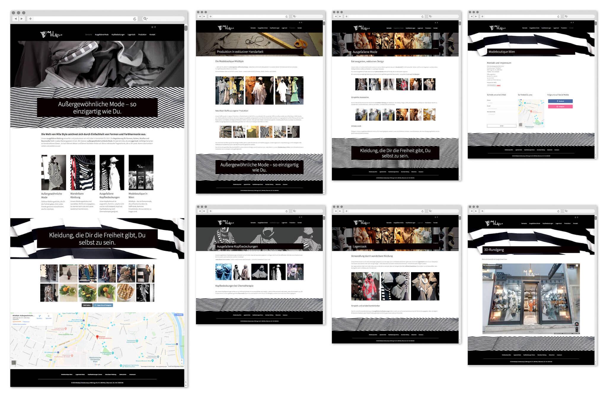 MilaStyle | Webseite | Fotografie, Entwurf und Gestaltung | 2017