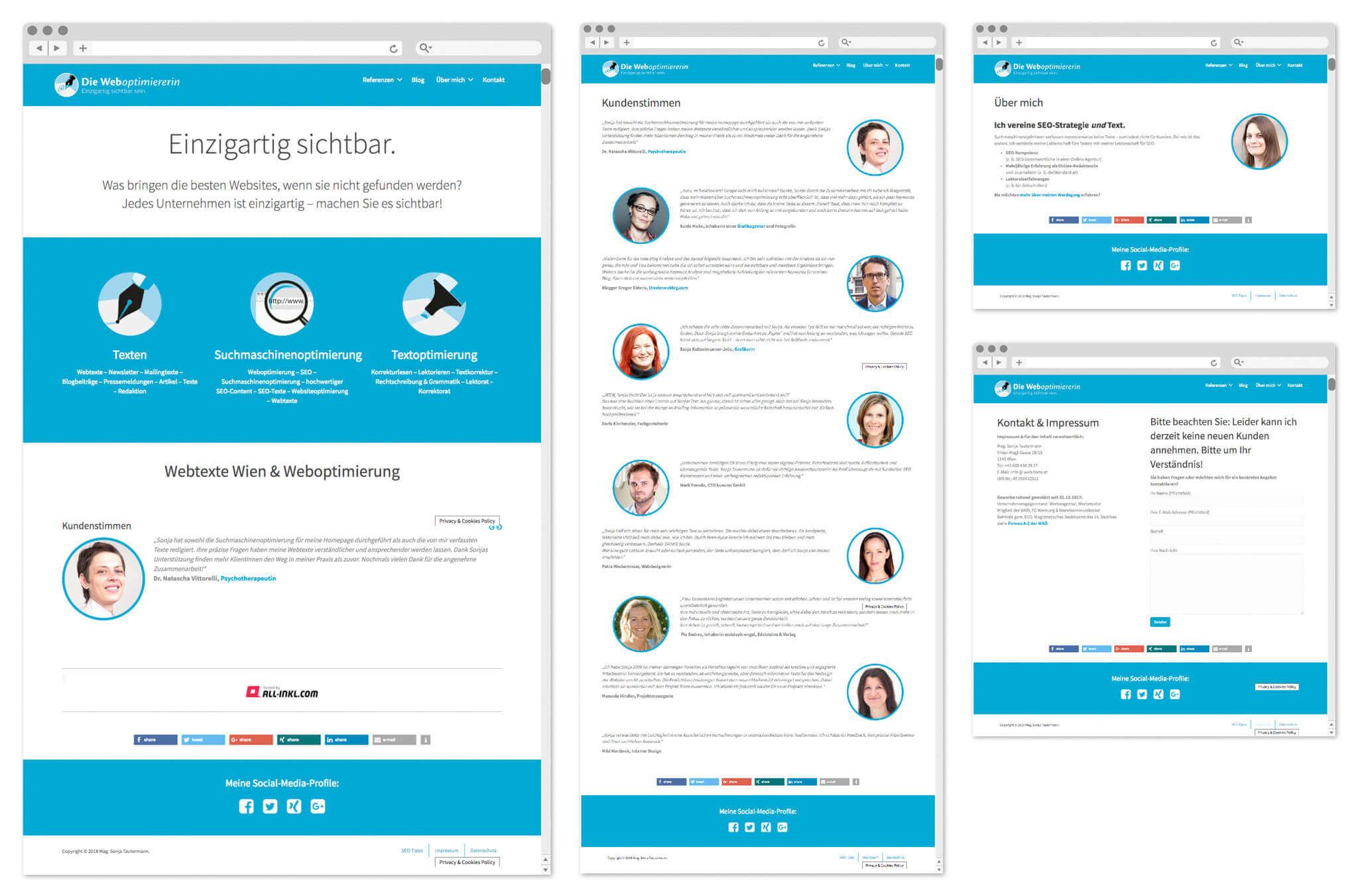 Mag. Sonja Tautermann – Weboptimiererin   Webseite   Entwurf und Gestaltung   2014